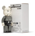 Fine Art - Sculpture, American:Contemporary (1950 to present), KAWS X BE@RBRICK. Companion 400% (Grey), 2002. Painted castvinyl. 10-3/4 x 5 x 3-1/2 inches (27.3 x 12.7 x 8.9 cm) (toy...