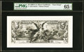 Large Size:Federal Proofs, Fr. 268 $5 1896 Silver Certificate (1895) Face Essay PMG Gem Uncirculated 65 EPQ.. ...