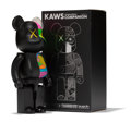 Fine Art - Sculpture, American:Contemporary (1950 to present), KAWS X BE@RBRICK. Dissected Companion 400% (Black), 2010.Painted cast vinyl. 10-3/4 x 5 x 3.5 inches (27.3 x 12.7 x 8.9...