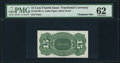 Fractional Currency:Fourth Issue, 15¢ Fourth Issue Back Proof Milton 4S15R.1a PMG Uncirculated 62.. ...
