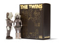 Fine Art - Sculpture, American:Contemporary (1950 to present), KAWS X Todd James. The Twins (Brown) (two works), 2006.Painted cast vinyl. 8 x 3 x 1-3/4 inches (20...