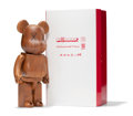 Sculpture, KAWS X BE@RBRICK. BWWT 400%, 2005. Karimoku wood. 10-3/4 x 5-1/4 x 3-1/2 inches (27.3 x 13.3 x 8.9 cm) (toy). 12-1/8 x 6...