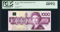 Canadian Currency, BC-61aA $1000 1988 Replacement Note EKX Prefix.. ...