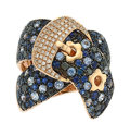 Estate Jewelry:Rings, Sapphire, Colored Diamond, Diamond, Rose Gold Ring. ...