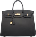 "Luxury Accessories:Bags, Hermes 40cm Black Togo Leather Birkin Bag with Gold Hardware. O Square, 2011. Condition: 3. 15.5"" Width x 11"" Heig..."