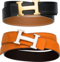 Luxury Accessories:Accessories, Hermes Set of Two: H Belts. Condition: 3. See Extended Condition Report for Sizes. ... (Total: 2 )