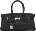 """Luxury Accessories:Bags, Hermes 42cm Black Clemence Leather JPG Birkin Bag with Palladium Hardware. H Square, 2004. Condition: 4. 17"""" Width..."""