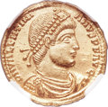 Ancients:Roman Imperial, Ancients: Valentinian I (AD 364-375). AV solidus (21mm, 4.44 gm,11h). NGC MS ★ 5/5 - 4/5....