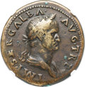 Ancients:Roman Imperial, Ancients: Galba (AD 68-69). AE sestertius (35mm, 26.84 gm,6h).NGC VF 5/5 - 4/5, Fine Style....