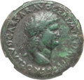 Ancients:Roman Imperial, Ancients: Nero (AD 54-68). AE sestertius (36mm, 27.37 gm,7h).NGC XF 5/5 - 4/5, Fine Style, lt. smoothing....