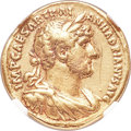 Ancients:Roman Imperial, Ancients: Hadrian (AD 117-138). AV aureus (19mm, 7.17 gm, 6h). NGCChoice Fine 5/5 - 3/5, edge marks....