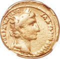Ancients:Roman Imperial, Ancients: Augustus (27 BC-AD 14). AV aureus (19mm, 7.86 gm, 7h). NGC VG 5/5 - 3/5....
