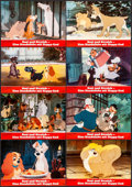 "Movie Posters:Animation, Lady and the Tramp (20th Century Fox, R-1980s). German Lobby CardSet of 12 (11.75"" X 8.25""). Animation.. ... (Total: 12 Items)"