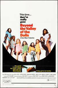 """Beyond the Valley of the Dolls (20th Century Fox, 1970). One Sheet (27"""" X 41""""). Sexploitation"""