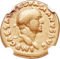 Ancients:Roman Imperial, Ancients: Vespasian (AD 69-79). AV aureus (19mm, 7.06 gm,6h). NGC VG 5/5 - 3/5....