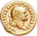 Ancients:Roman Imperial, Ancients: Divus Vespasian (died AD 79). AV aureus (19mm, 6.87 gm, 6h). About Fine, edge scrape....