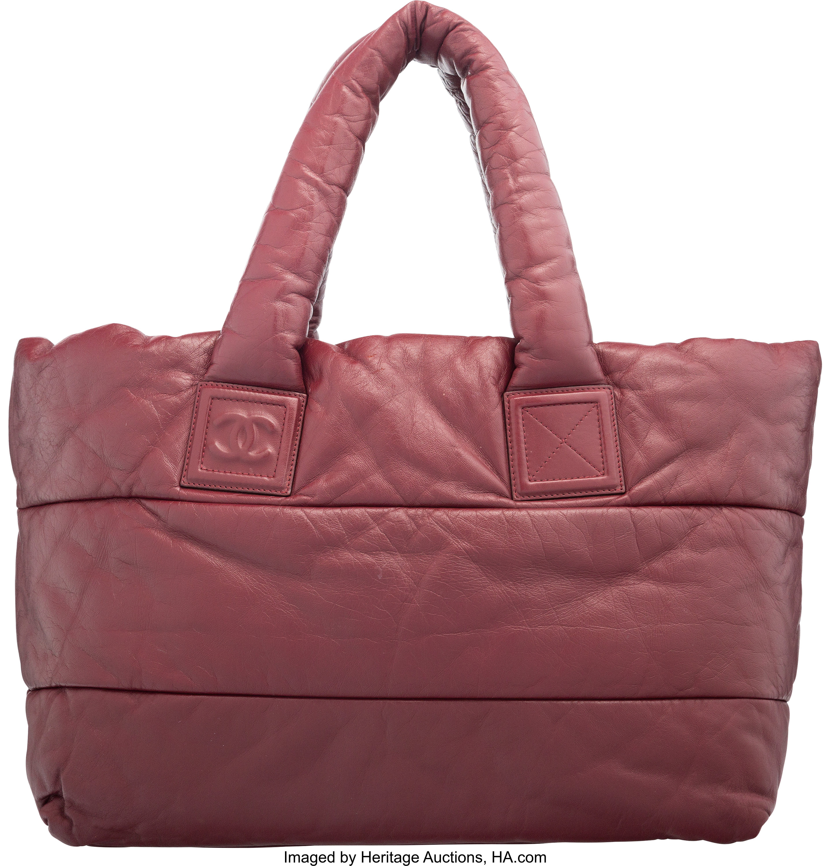 2ef249687 Chanel Red Lambskin Leather Coco Cocoon Tote Bag with Silver | Lot #58364 |  Heritage Auctions