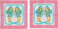 """Luxury Accessories:Accessories, Hermes Set of 2; Multicolor Brides de Gala Scarves . Condition: 1. 16"""" Width x 16"""" Height. ... (Total: 2 )"""