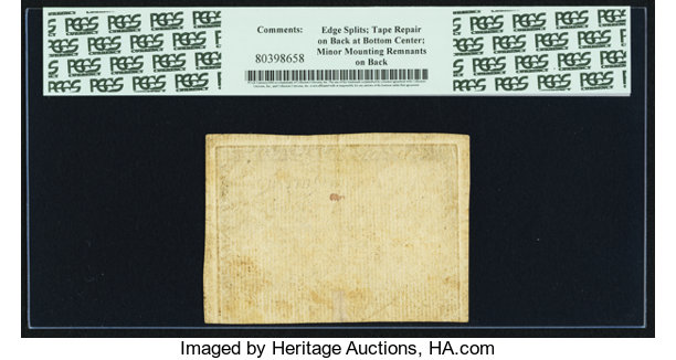 Colonial Notes North Carolina April 2 1776 8 Rooster Pcgs Choice