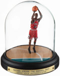 """Basketball Collectibles:Others, Michael Jordan """"Farewell Shot"""" Figurine and Case...."""