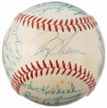 Autographs:Baseballs, 1958 Washington Senators Team Signed Baseball (25 Signatures)....