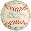 Autographs:Baseballs, 1955 Washington Senators Team Signed Baseball (26 Signatures) with Rookie-Era Harmon Killebrew....