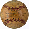 Autographs:Baseballs, 1938 Washington Senators Team Signed Baseball (25 Signatures)....