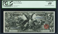 Large Size:Silver Certificates, Fr. 270 $5 1896 Silver Certificate PCGS Extremely Fine 40.. ...