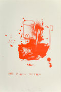 Fine Art - Work on Paper:Print, Jim Dine (b. 1935). The Paris Review, 1965. Lithograph in colors on paper. 39-3/4 x 26-1/4 inches (101 x 66.7 cm) (sheet...