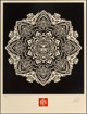 Shepard Fairey (b. 1970) Mandala Ornament 2 (Black and Cream) (two works), 2010 Screenprints in colors on cream speckl...