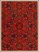 Shepard Fairey (b. 1970) Yen Pattern (Gold and Red/Black) (two works), 2007 Screenprints in colors on cream speckled p...