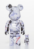 Collectible, BE@RBRICK X Futura. Purple Marble 400% and 100% (set of two), 2017. Painted cast vinyl. 11 x 5-1/4 x 2-1/2 inches (2...