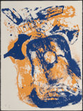 Prints & Multiples, ARMAN (1928-2005). Glowing Guitar, 1978. Silkscreen in colors on Arches paper. 30 x 22-1/4 inches (76.2 x 56.5 cm) (shee...