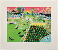 Kay Ameche (1904-2005) Kentucky, 1981 Serigraph in colors on paper 15-3/4 x 19-7/8 inches (40 x 5
