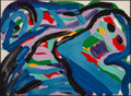 Prints & Multiples, Karel Appel (1921-2006). Floating in a Landscape, 1979. Lithograph in colors on Arches paper. 21-1/2 x 29-1/2 inches (54...