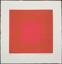 Richard Joseph Anuszkiewicz (b. 1930) Red with Gold IV, from Summer Suite, 1979 Etching w