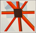 Prints & Multiples, Allan D'Arcangelo (1930-1998). Squared Star, 1979. Serigraph in colors on paper. 24 x 26-3/4 inches (61 x 67.9 cm) (imag...