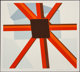 Allan D'Arcangelo (1930-1998) Squared Star, 1979 Serigraph in colors on paper 24 x 26-3/4 inches (61 x 67.9 cm) (imag
