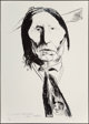 Leonard Baskin (1922-2000) Wolf-Robe-Cheyenne, 1972 Lithograph on paper 35 x 25 inches (88.9 x 63.5 cm) (sheet) Ed