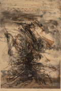 Fine Art - Work on Paper:Print, Zao Wou-Ki (1921-2013). Untitled, 1963. Etching and aquatintin colors on paper. 21-3/4 x 14-3/4 inches (55.2 x 37.5 cm)...