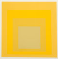 Prints & Multiples, Josef Albers (1888-1976). I-S h, 1971. Screenprint in colors on German Etching paper. 13-3/4 x 13-3/4 inches (34.9 x 34....