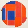 Prints & Multiples, Ilya Bolotowsky (1907-1981). Red and Blue Tondo, 1970. Silkscreen in colors on paper. 23-5/8 x 23-5/8 inches (60 x 60 cm...