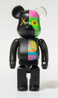 Fine Art - Sculpture, American:Contemporary (1950 to present), KAWS X BE@RBRICK. Dissected Companion 400% (Black), 2010.Painted cast vinyl. 10-1/2 x 5-1/4 x 3-1/2 inches (26.7 x 13.3...