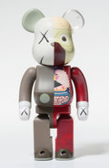 Fine Art - Sculpture, American:Contemporary (1950 to present), KAWS X BE@RBRICK. Dissected Companion 400%, 2008. Paintedcast vinyl. 2-3/4 x 1-1/2 x 1 inches (7 x 3.8 x 2.5 cm). Editi...