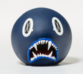 Fine Art - Sculpture, American:Contemporary (1950 to present), KAWS (b. 1974). Cat Teeth Bank (Navy), 2007. Painted castvinyl. 5 x 5 x 5 inches (12.7 x 12.7 x 12.7 cm). Edition of 40...