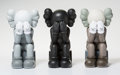 Fine Art - Sculpture, American:Contemporary (1950 to present), KAWS (b. 1974). Companion-Passing Through, set of three,2013. Painted cast vinyl. 11-3/4 x 6-3/4 x 7-3/4 inches (29.8 x...(Total: 3 Items)