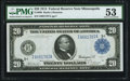 Large Size:Federal Reserve Notes, Fr. 998 $20 1914 Federal Reserve Note PMG About Uncirculated 53.. ...
