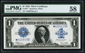 Large Size:Silver Certificates, Fr. 237* $1 1923 Silver Certificate PMG Choice About Unc 58.. ...