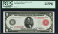 Fr. 833b $5 1914 Red Seal Federal Reserve Note PCGS Very Choice New 64PPQ