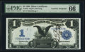 Large Size:Silver Certificates, Fr. 230 $1 1899 Silver Certificate PMG Gem Uncirculated 66 EPQ.....